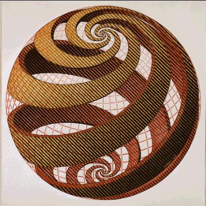escher esfera espiral